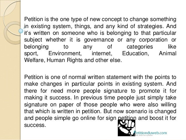 Petition ...