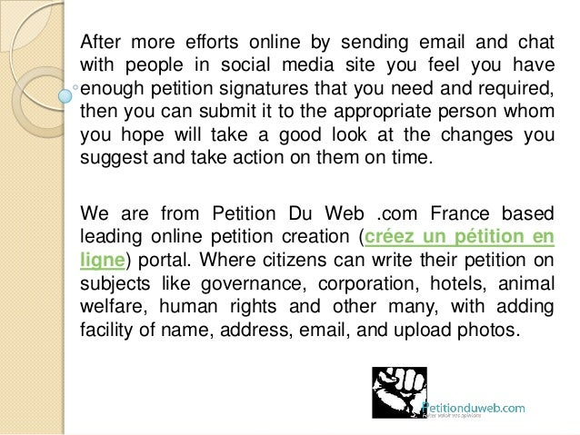 Importance Of Signature To Start An Online Petition