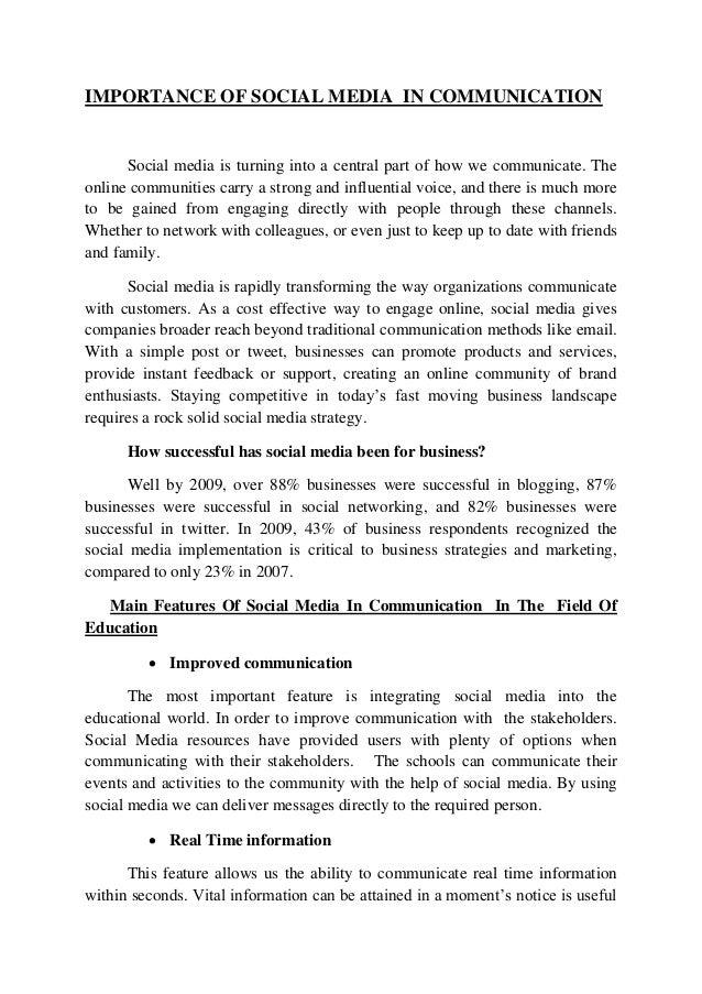 Dissertation about social media