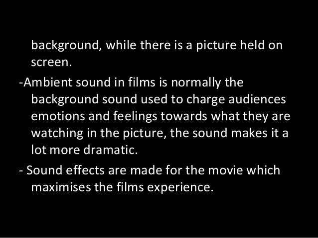 Importance of sound in an opening title sequence