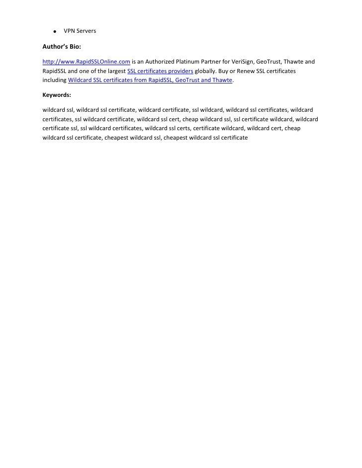 Importance Of Ssl Wildcard Certificate