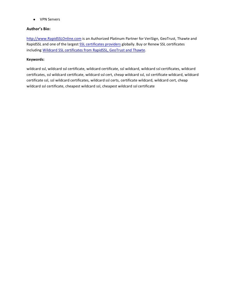 Importance Of Wildcard Ssl Certificate From Rapidsslonline