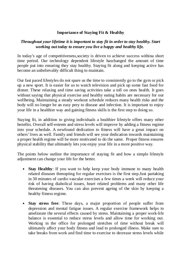 Essay On English Language  How To Write A Essay For High School also Proposal For An Essay Importance Of Staying Fit And Healthy Essay How To Write A Thesis Essay
