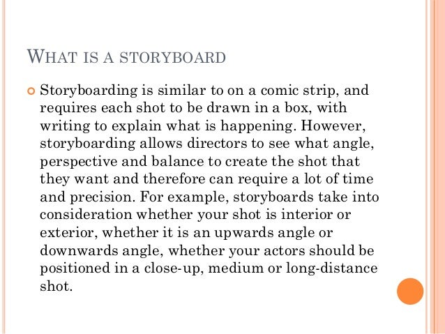 Importance Of Storyboard