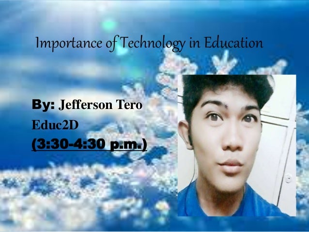 importance of technical education Liberal education, in origin, is older than technical education hence, it is more popular than technical education with the advan­cement of industrialization the people of the west came to realize importance of technical education.