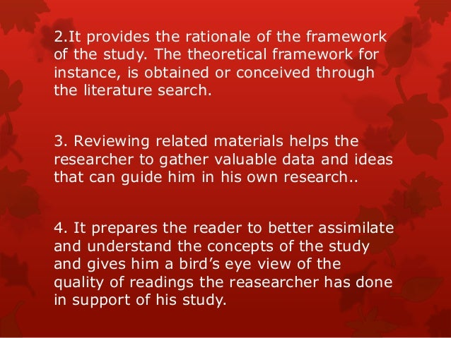 importance of literature review in research work Literature review sources can be divided into three categories as illustrated in   important source to find models and theories related to the research area  the  research area to submitting the completed version of the work within the deadline.