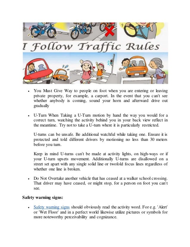 importance to follow traffic rules