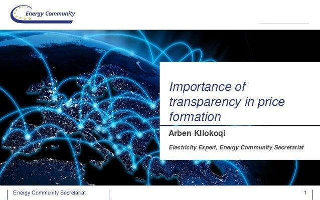 Energy Community SecretariatEnergy Community Secretariat 1 Arben Kllokoqi Electricity Expert, Energy Community Secretariat...