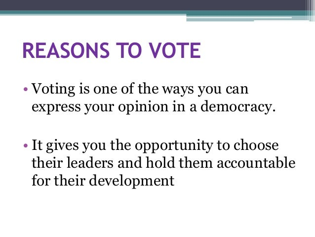 importance of voting in india Essay on election and voting in indian democracy  election in a democratic country like india is of utmost importance  importance of voting:.