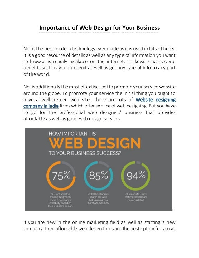 Importance Of Web Design For Your Business