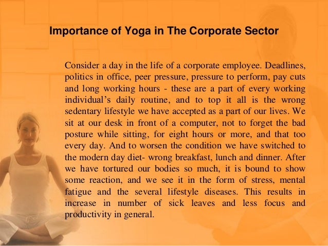 Importance Of Yoga In The Corporate Sector