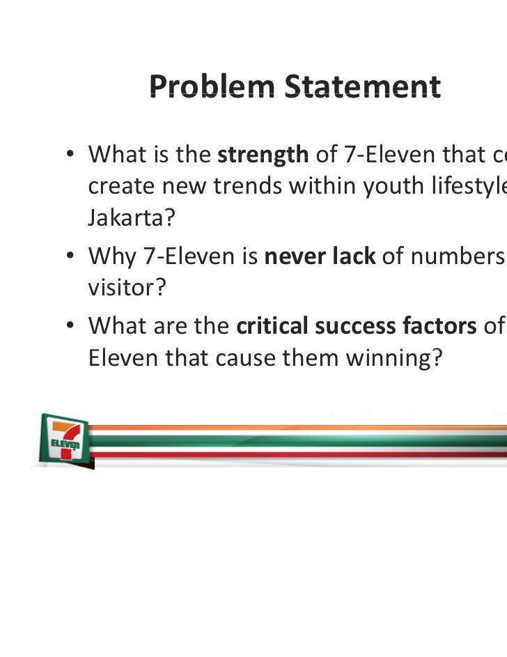 7 eleven casestudy 7-eleven in thailand case solution, this case is about accounting publication date: december 09, 2013 product #: w13518-pdf-eng cp 7-eleven is a principal retail chain in thailand.