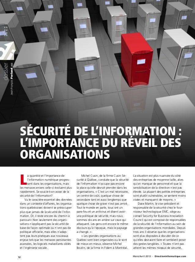 ::::dossier          Jean-François Ferland ::::                                        Sécurité de l'information :        ...