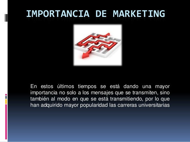 importancia de marketing