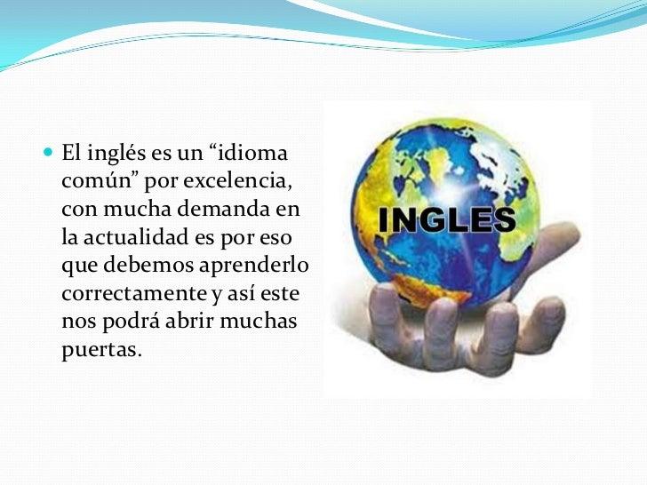 Porque es importante aprender ingles en la actualidad