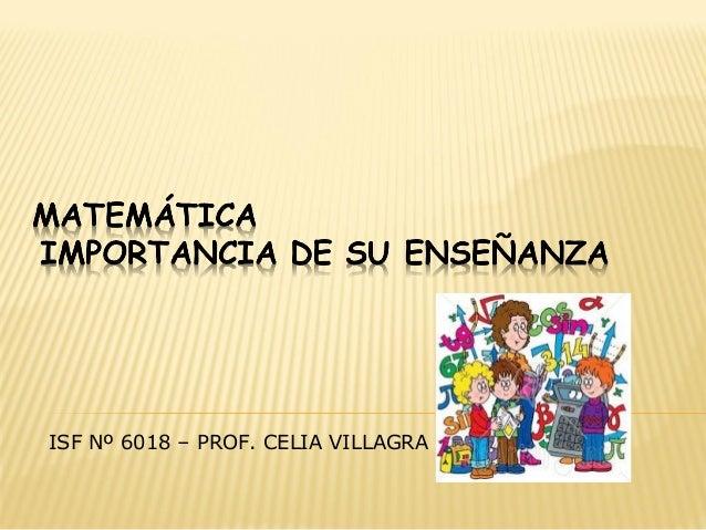 ISF Nº 6018 – PROF. CELIA VILLAGRA