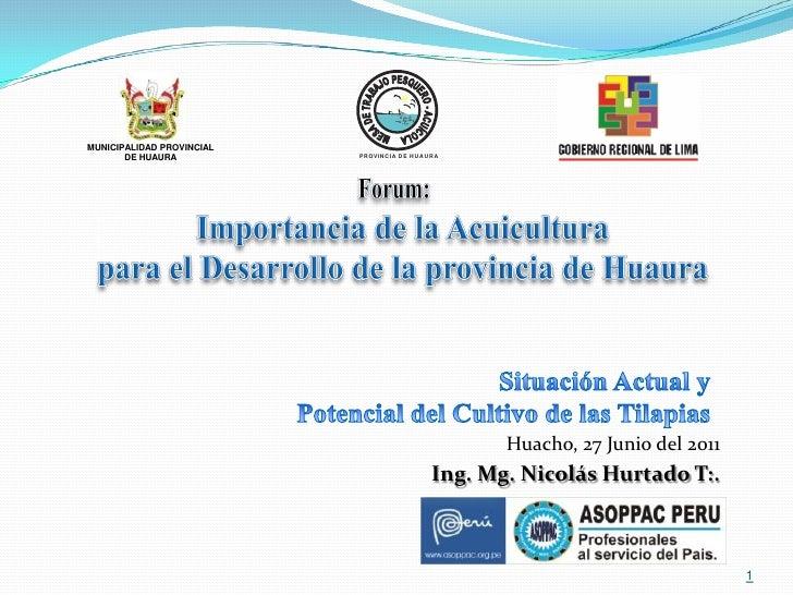 MUNICIPALIDAD PROVINCIAL       DE HUAURA           PROVINCIA DE HUAURA                                                   H...
