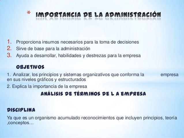 Importancia de la administraci n for Concepto de oficina y su importancia