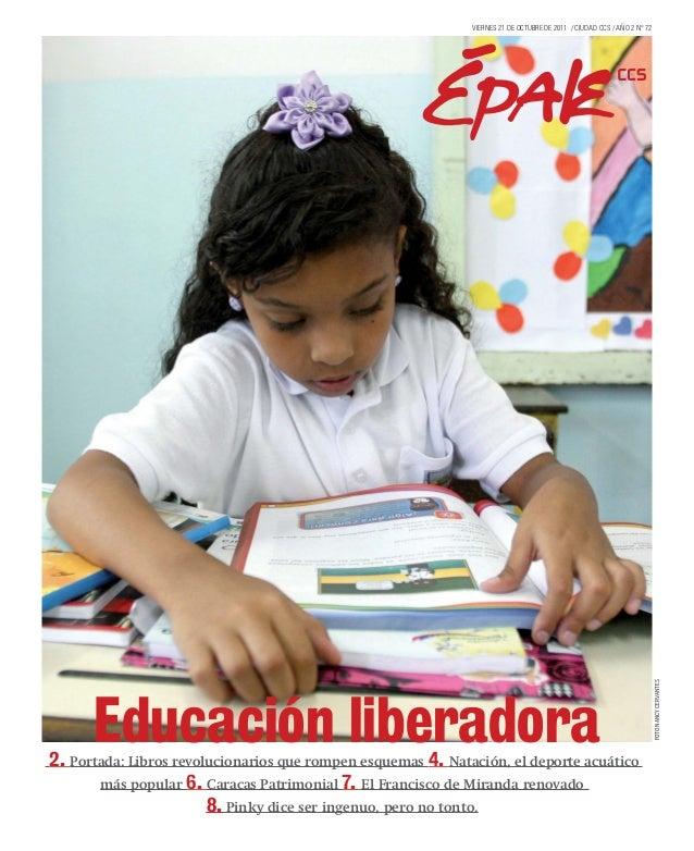 Educación liberadora2. Portada: Libros revolucionarios que rompen esquemas 4. Natación, el deporte acuáticomás popular 6. ...