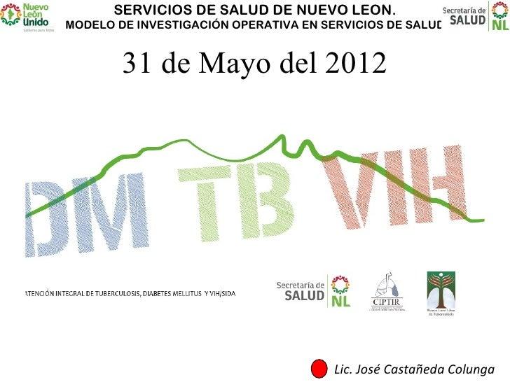 SERVICIOS DE SALUD DE NUEVO LEON.MODELO DE INVESTIGACIÓN OPERATIVA EN SERVICIOS DE SALUD        31 de Mayo del 2012       ...