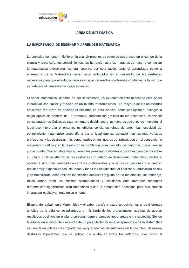 ACTUALIZACIÓNYFORTALECIMIENTOCURRICULARDELAEDUCACIÓNBÁSICA                                          ÁREADEMATEMÀT...