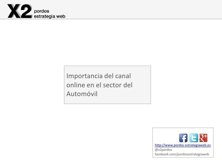 Importancia del canalonline en el sector delAutomóvil                          http://www.pordos-estrategiaweb.es         ...