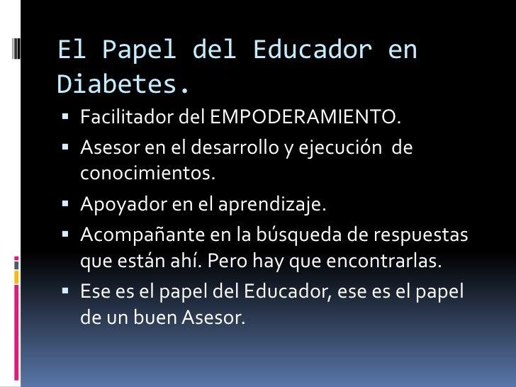 Importancia del educador en diabetes como agente de cambio
