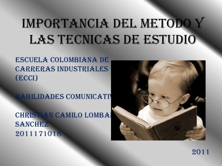 Importancia del metodo y las tecnicas de estudio for Importancia de la oficina wikipedia