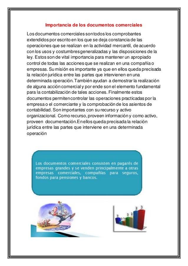 Importancia de los documentos comerciales for Importancia de los viveros forestales
