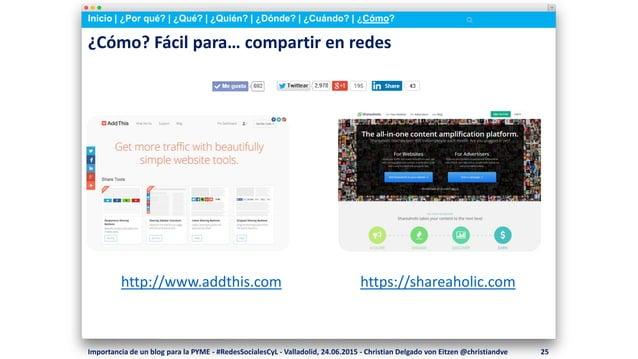 Inicio   ¿Por qué?   ¿Qué?   ¿Quién?   ¿Dónde?   ¿Cuándo?   ¿Cómo? ¿Cómo? Fácil para… compartir en redes http://www.addthi...
