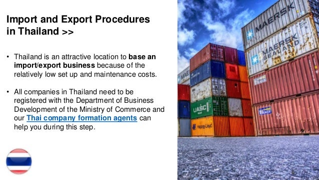 Import and Export in Thailand