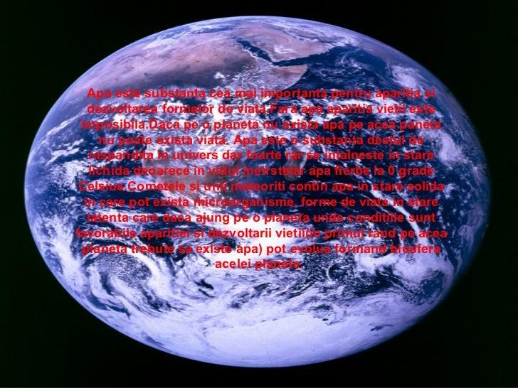 Importanta Apei In Lumea Vie Slide 2