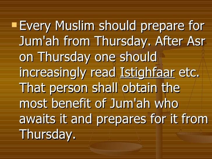 Important Aspects Of Friday Jummah