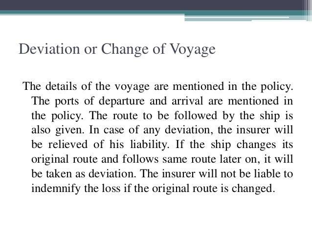voyage deviation in marine insurance pdf