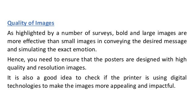 Important criteria to compare poster printing services in