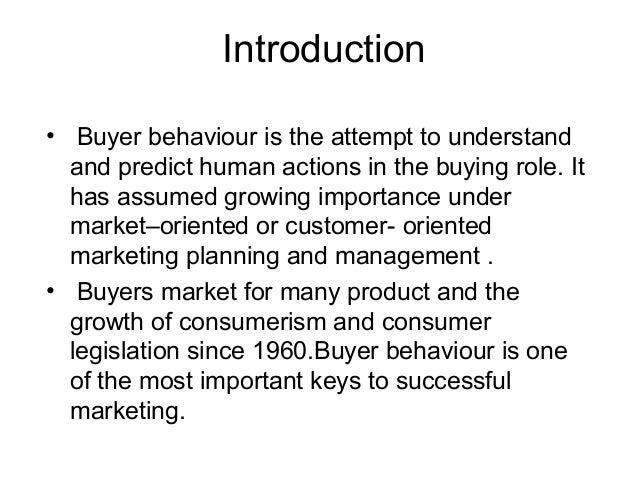 importance of consumer buying behaviour in marketing management The impact of brand image on consumer behavior: a literature review yi zhang department of marketing, management the impact of brand image on consumer behavior.