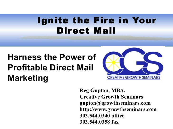 Important elements of direct mail