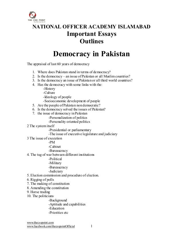 narrative essay on why democracy failed in pakistan Pakistan is on the verge of making political history: its first transfer of  in a  move that would be seen as a failure of democratic bargaining.