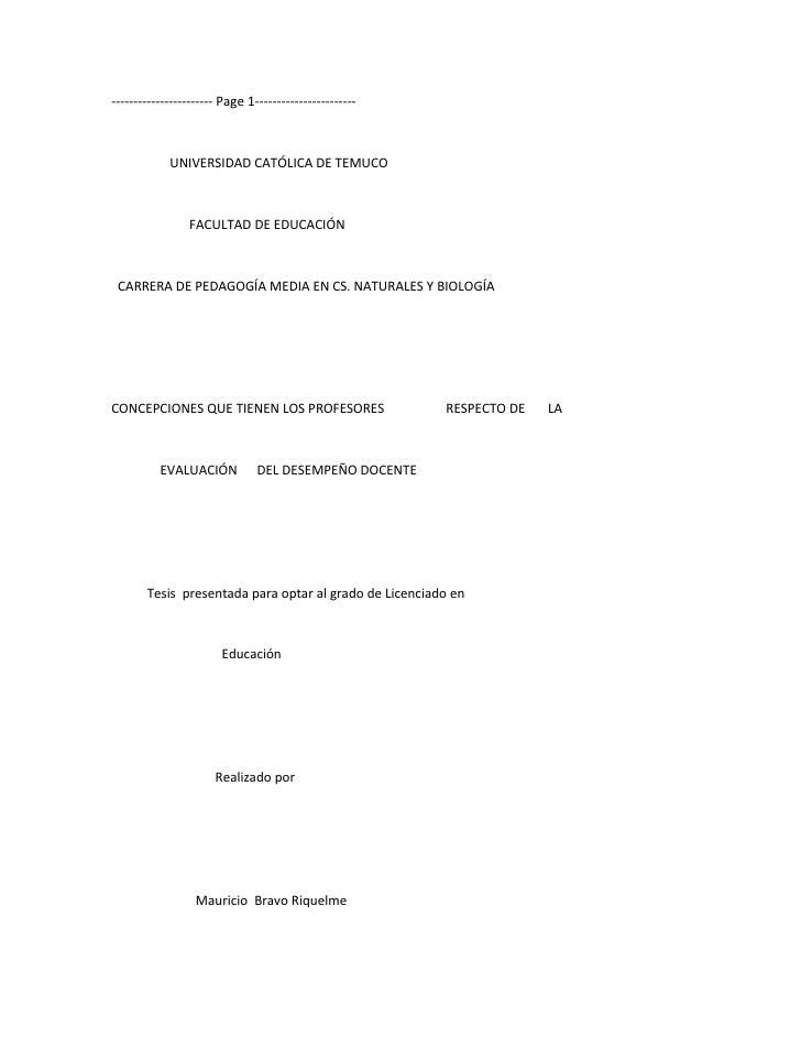 ----------------------- Page 1-----------------------            UNIVERSIDAD CATÓLICA DE TEMUCO                FACULTAD DE...