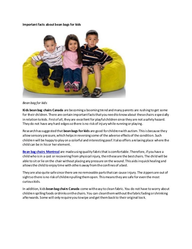 Important Facts About Bean Bags For Kids Bean Bag For Kids Kids Bean Bag  Chairs Canada