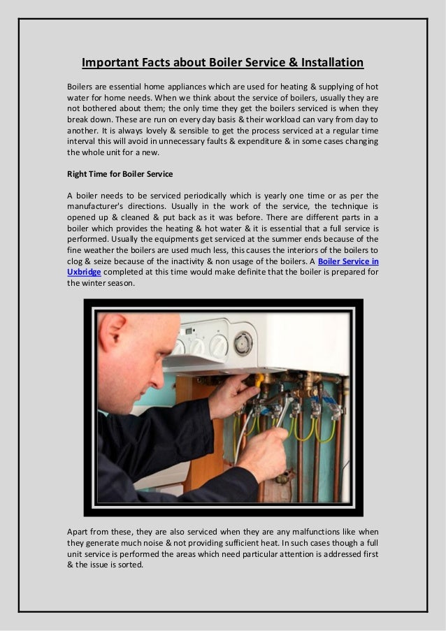 Important Facts about Boiler Service & Installation