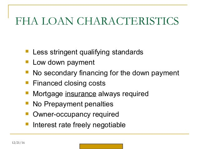 Mortgage Loan Low Down Payment