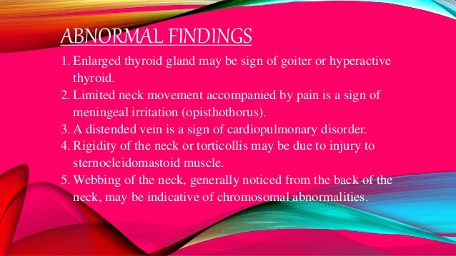 ABNORMAL FINDINGS 1.Chest retraction – respiratory distress 2.Bulging of the chest – pneumothorax, pneumomediastenum 3.Dis...