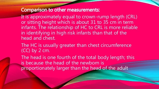 Comparison to other measurements: It is approximately equal to crown-rump length (CRL) or sitting height which is about 31...