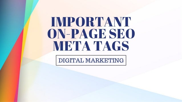 Important On-Page sEO Meta Tags