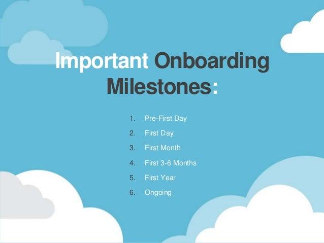 important onboarding milestones