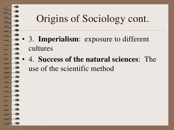importance of sociology uses of sociology 1 sociology studies society in a scientific way before the emergence of sociology, there was no systematic and scientific attempt to study human.