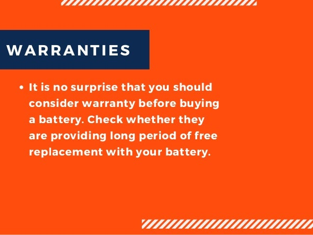 Important Points to Consider Before uying a Car Battery