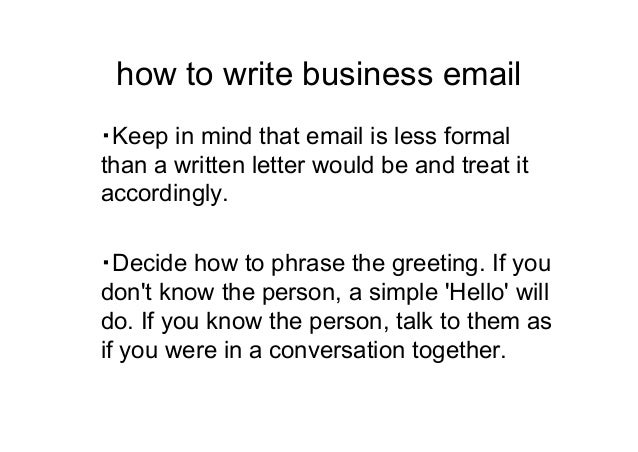 Important point to write business e mail 5 how to write business altavistaventures Choice Image