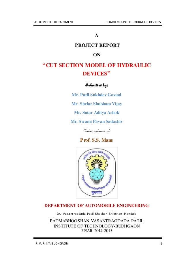hydrostatic lab report This experiment is designed to help you understand how to locate the center of pressure and compute the hydrostatic force acting on a submerged surface  report.